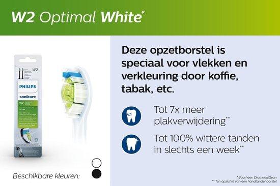 Philips Sonicare W2 Optimal White HX6068/12 - Opzetborstels - 8 stuks