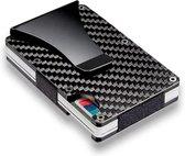 Carbon Fiber Wallet RFID - Unisex Creditcardhouder Zwart