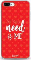 Apple iPhone 7 Plus / iPhone 8 Plus hoesje All you need is me Casetastic Smartphone Hoesje softcover case