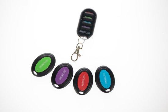 Keyfinder set met 4 sleutelzoekers en locator
