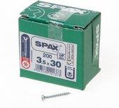 Spax Spaanplaatschroef Verzinkt Torx 3.5 x 30 (200) - 200 stuks