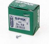 Spax Spaanplaatschroef platverzonken kop verzinkt pozidriv 3.5x12mm (per 200 stuks)