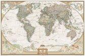 National Geographic - Grote Wereldkaart - Landkaart - Schoolkaart  - Schoolplaat - Vintage - Eyecatcher - 75 x 50 CM - Wanddecoratie - Kwaliteit - Design - Poster - Om aan de muur te hangen - Wereld Kaart - Land Kaart - Continenten