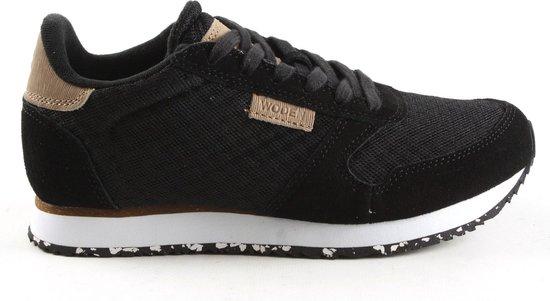 Woden Dames Lage Sneakers Ydun Suede Mesh - Zwart Maat 41 xOEtlu