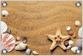 Tuinposter –Zeesterren op het Strand– 120x80 Foto op Tuinposter (wanddecoratie voor buiten en binnen)