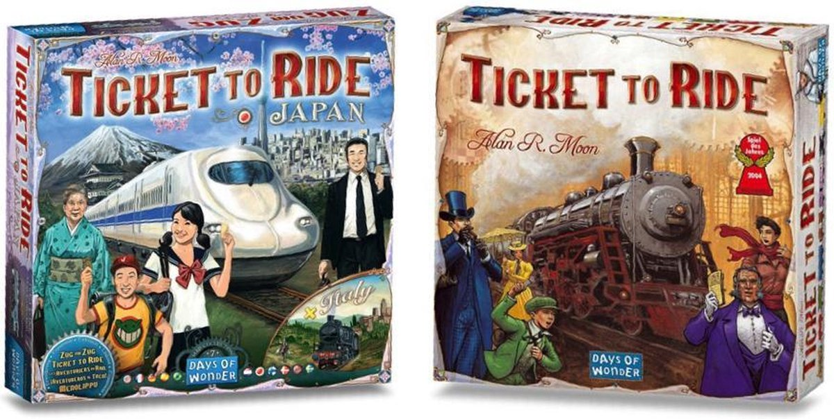 Ticket to Ride Spellenbundel inclusief basisspel USA & Uitbreiding Japan/Italy