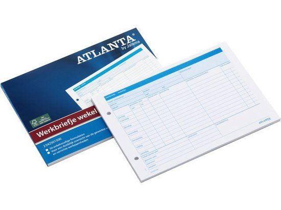 Atlanta werkbrief A5 50 vel wekelijks