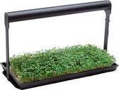 MicroFarm | Kweeklamp LED + 2x Zaaitray | Kweekset Incl. Groeilamp LED + Zaadbakjes voor MicroGreens Kiemzaden | Binnentuin met Growlight Lengte 39.5cm| Oogst Superfoods in 7 Dagen