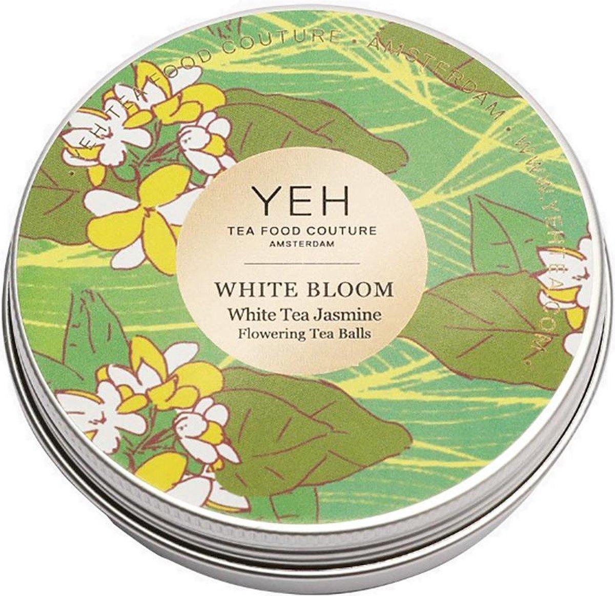 Yeh Tea - WHITE BLOOM - tin 50g (7 theebloemen) - Witte bloementhee met jasmijnsmaak - Yeh Tea