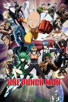 One Punch Man Saitama Genos Manga Anime collage poster 61x91.5cm.