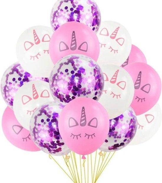 Sens Design - Unicorn ballonnen eenhoorn ballonnen 15 stuks - paars
