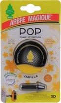 Arbre Magique POP vanille / vanilla autoparfum - Auto luchtverfrisser vanille / vanilla  - Autoparfum vanille / vanilla  - Lekker luchtje in de auto - vanille / vanilla  Geurtje - Compact geurtje -
