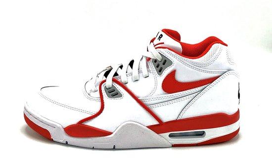 Nike Air Flight 89 LE (Wit/Rood) - Maat 43 EU / 9.5 US - 819665-100