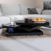 Deuba Salontafel - zwart 60x60x30,5 cm verstelbaar- New York