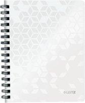Leitz WOW schrift ft A5, gelijnd, wit
