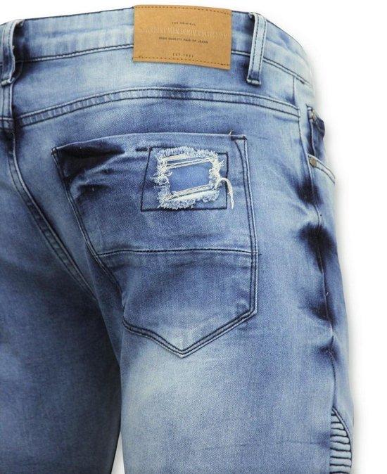 True Rise Spijkerbroek Mannen - Biker Jeans Skinny 3020-16 Blauw Heren W29