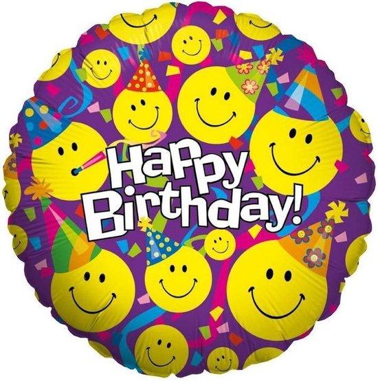 Folie cadeau sturen helium gevulde ballon Happy Birthday 46 cm - Folieballon verjaardag versturen/verzenden