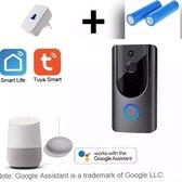 Full HD 1080P WiFi smart home videodeurbel-Draadloze Video Deurbel - Inclusief Chime - deur bel met camera.