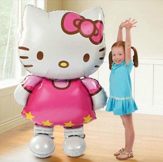 Hello Kitty folie ballon XL maat 116x68