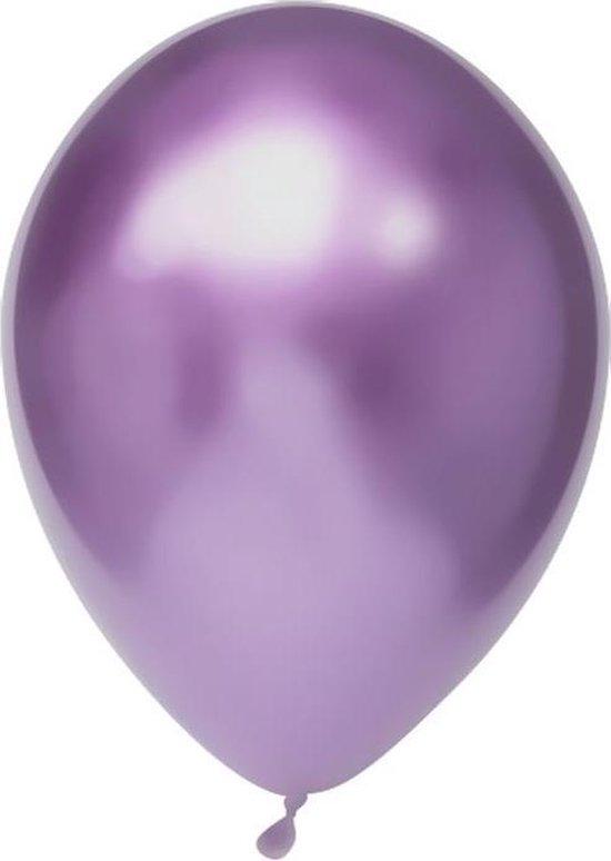 Haza Original Ballonnen 30 Cm 100 Stuks Paars/chroom