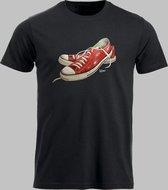 T-shirt M Lage sneakers in rood 2 - Zwart - M - M Sportshirt