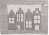 Knit Factory Placemat House Ecru/Taupe