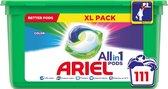 Ariel All in 1 Pods Kleur Wasmiddelcapsules - Kwartaalbox 3 x 37 Wasbeurten