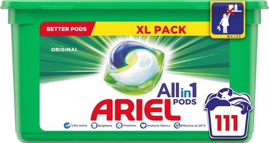 Ariel All in 1 Pods Regular Wasmiddel - Voordeelverpakking 3 x 37 Wasbeurten - Wasmiddel Pods