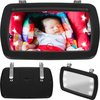 Universele Autospiegel Met LED Verlichting - Baby & Kind Auto Spiegel - Verstelbare Zonneklep Babyspiegel - Maxi Cosi Babyautospiegel - 360 Graden Draaibar