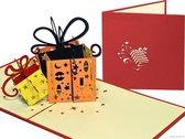 Popcards popupkaarten - Cadeautjes Verjaardag Verjaardagskaart Felicitatie Jarig pop-up kaart 3D wenskaart