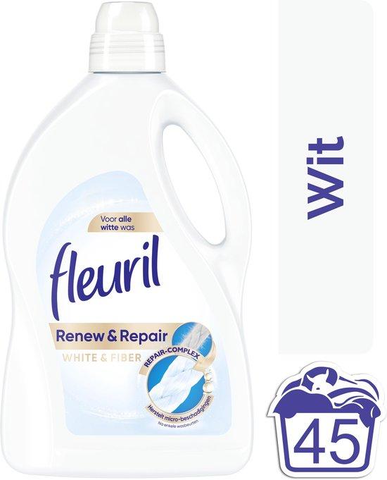 Fleuril Renew & Repair White & Fiber Wasmiddel - Witte Was - 45 wasbeurten