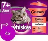 Whiskas Casserole Senior Classic - Kattenvoer - 4 x 12x85 g