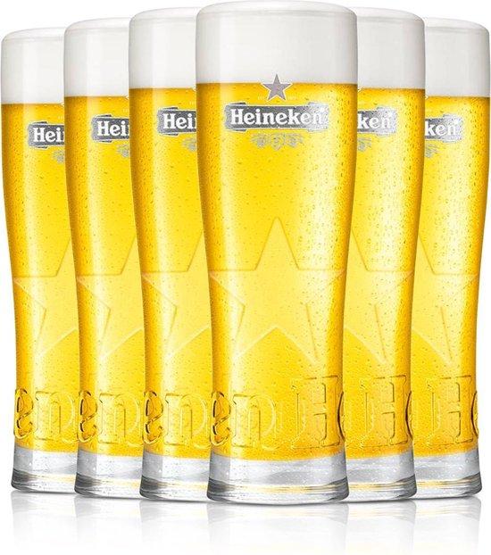 HEINEKEN | Bierglazen (set van 6) | 250 ML - 25 Cl - 0.25 L | Star | Grijskleurig Logo | Bierglazenset | Bierglas | LIMITED EDITION