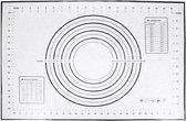 siliconen bakmat/deegmat 60 x 40 cm met maataanduidingen - Zwart
