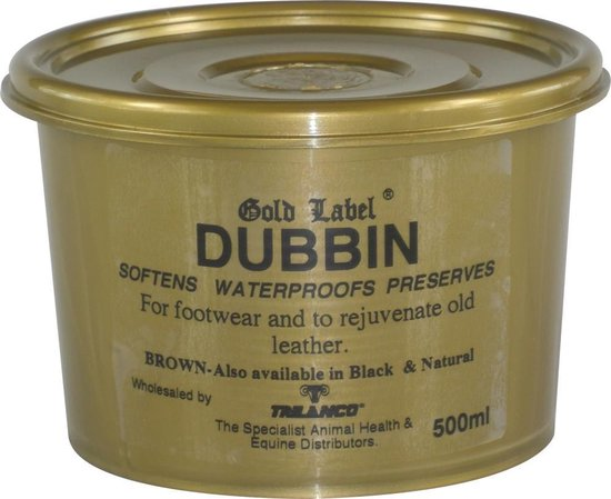Gold Label Dubbin Ledervet  waterproof 500 gram