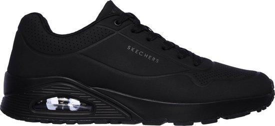 Skechers Uno Stand On Air Heren Sneakers - Zwart/Zwart - Maat 43