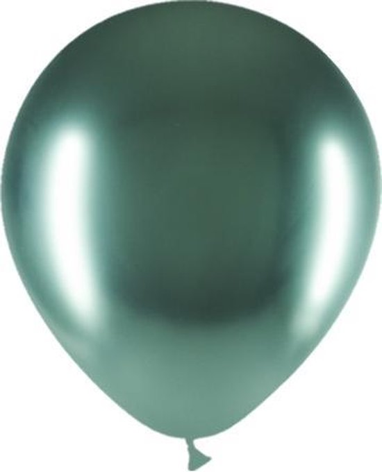 Groene Ballonnen Chroom 30cm 10 stuks