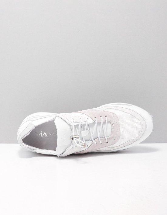 Via Vai 5410002 Sneakers Dames Maat: 42 Wit 003 Vitello Ramos Bianco Lunar Leer zi7fId