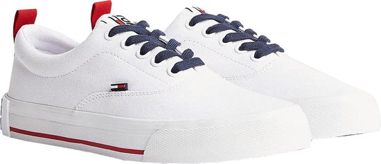 Tommy Hilfiger Essential Sneakers - Maat 40 - Vrouwen - wit/navy/rood h8eDHQB1