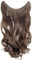Wire hairextensions wavy bruin - 8#