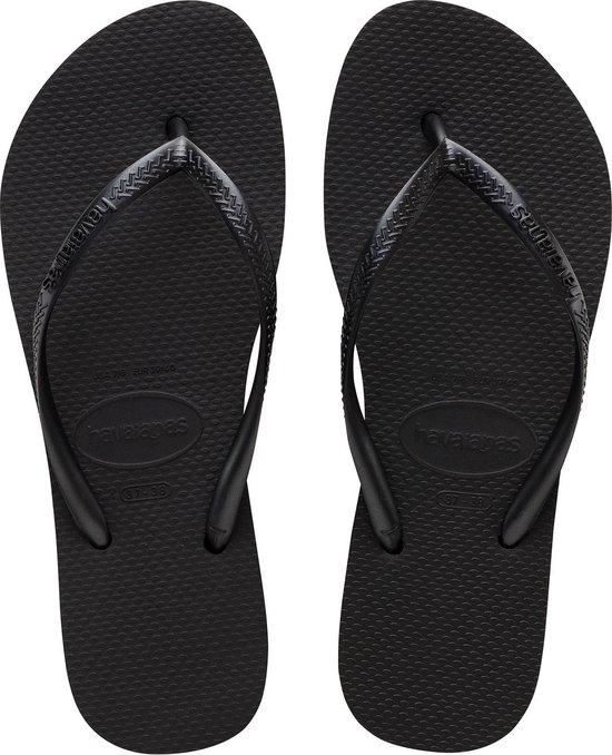 Havaianas Slim Flatform Dames Slippers - Black - Maat 39/40 3hfCArJK