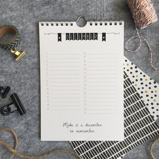 Verjaardagskalender - kalender - A5 - Studio Thoés