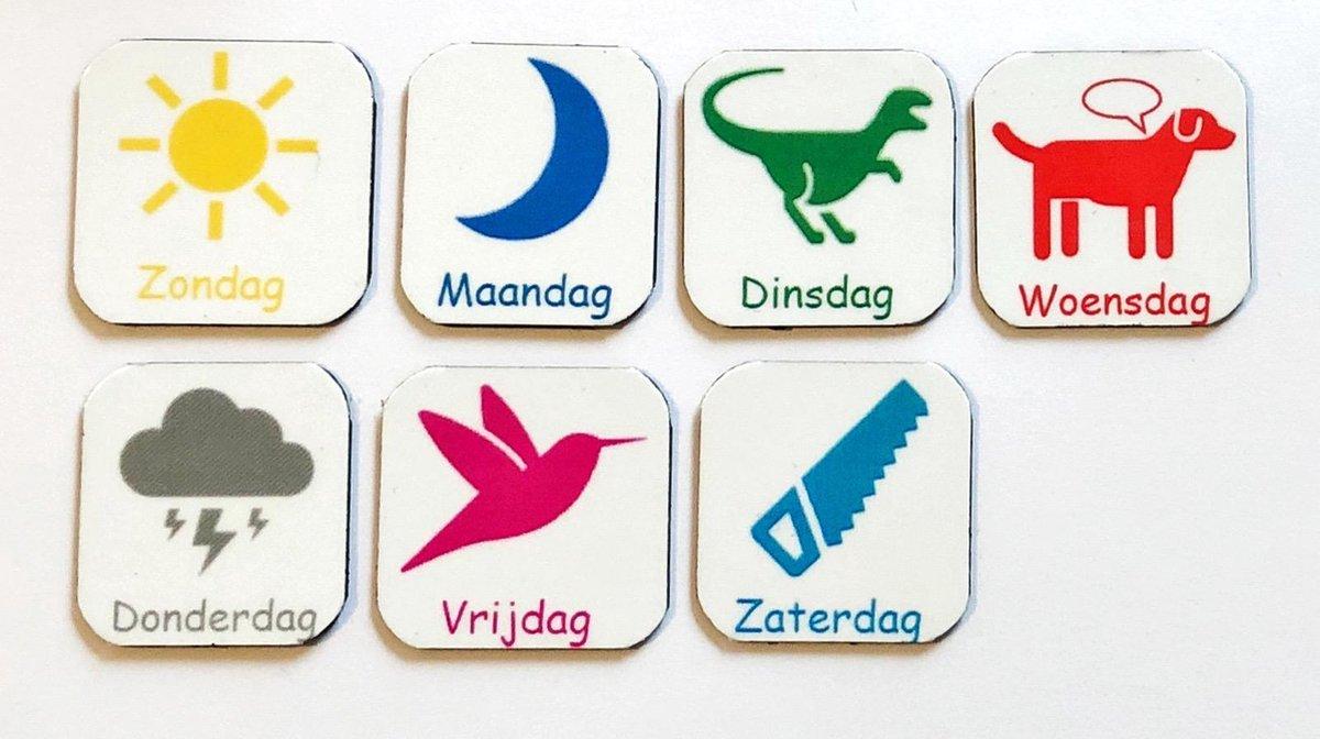 Onwijs bol.com   Magneet pictogrammen 'weekdagen