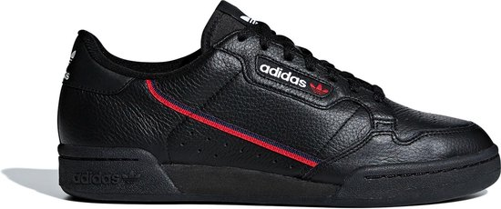 adidas Continental 80 Heren Sneakers - Core Black/Scarlet/Collegiate Navy -  Maat 46