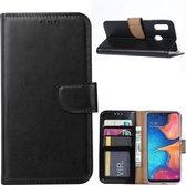 Samsung Galaxy A20E - Bookcase Zwart - portemonee hoesje