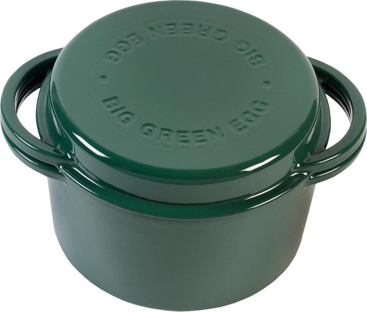 BGE GREEN DUTCH OVEN ( geëmailleerde ronde dutch oven/ braadpan 4 liter)