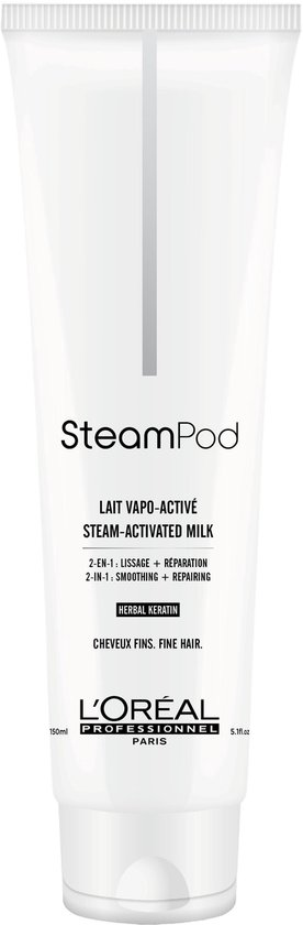 L'Oréal Steampod Set Fijn haar - 1 x smoothing milk - 150 ml + 1 x protecting concentrate serum - 50 ml - L'Oréal Professionnel