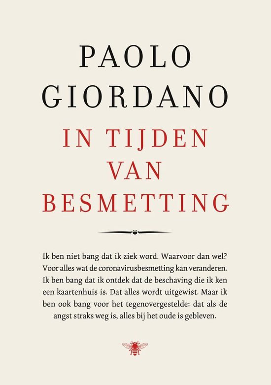 Boek cover In tijden van besmetting van Paolo Giordano (Onbekend)