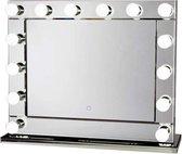 Bright Beauty Vanity hollywood make up spiegel met verlichting - 80 x 65 cm - dimbaar - rand van spiegelglas