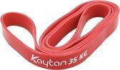 resistance band - weerstandsband-  fitness elastiek- Elastische Weerstandsband 35 kg | Fitness Elastiek Set | rood